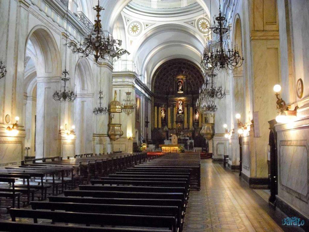 Interior Catedral Metropolitana de Montevidéu