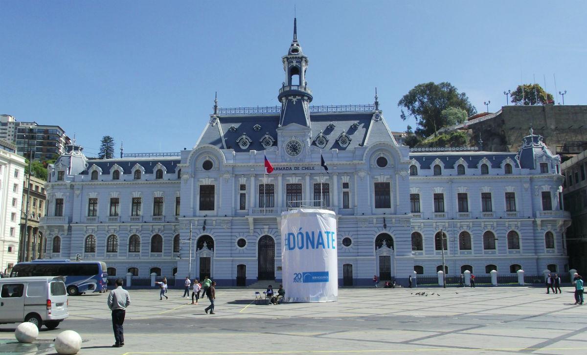 Plaza Sotomayor em Valparaíso