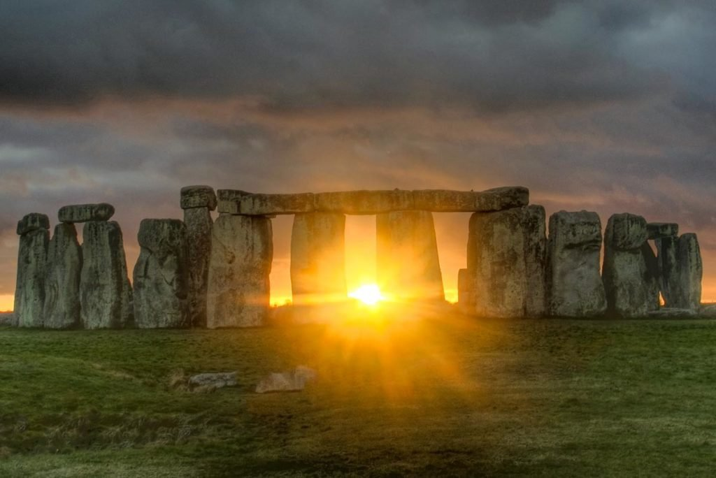 Pôr do Sol no Stonehenge