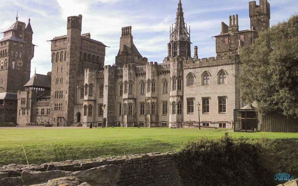 Castelo de Cardiff no País de Gales