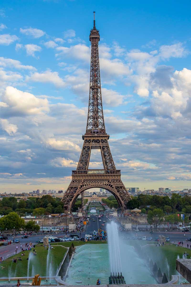Torre Eiffel e Jardins du Trocadéro