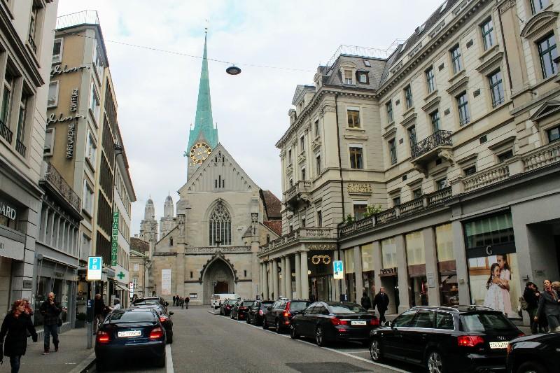 Centro de Zurique na Suíça