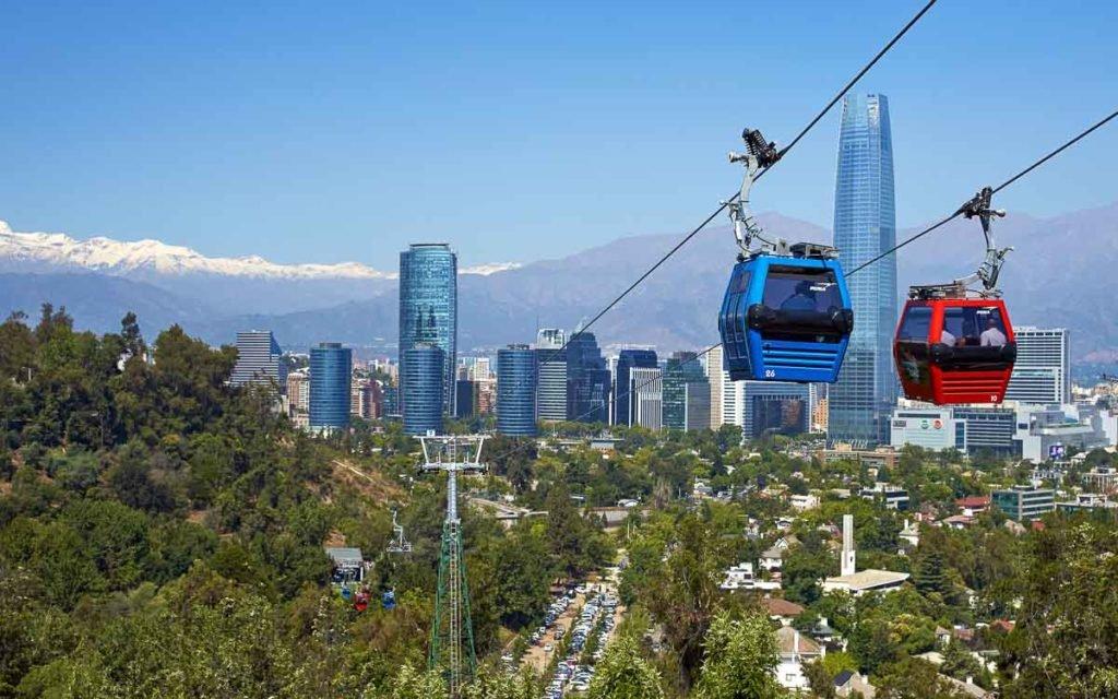 Teleférico em Santiago do Chile