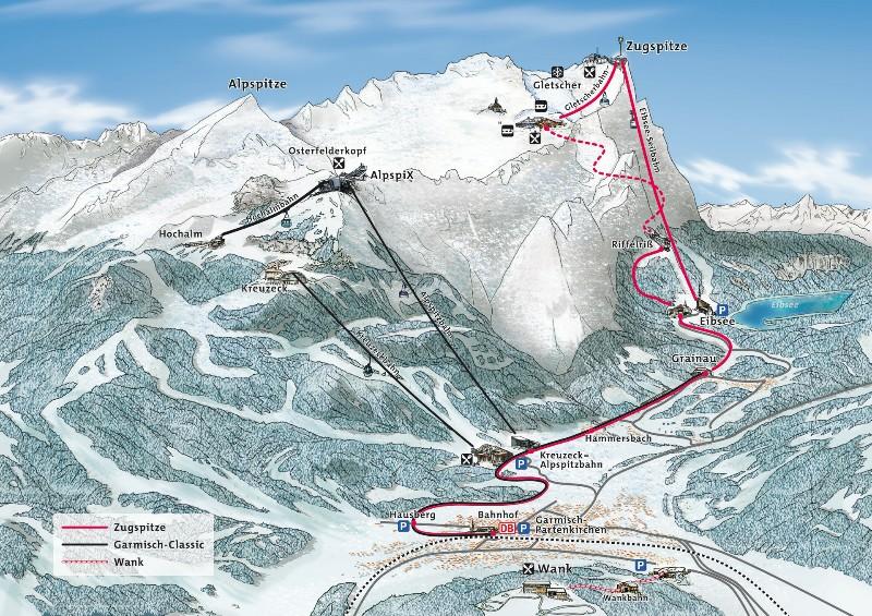 Mapa Zugspitze