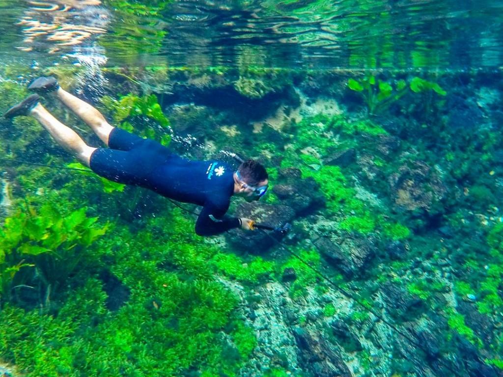 Flutuação na Nascente Azul em Bonito