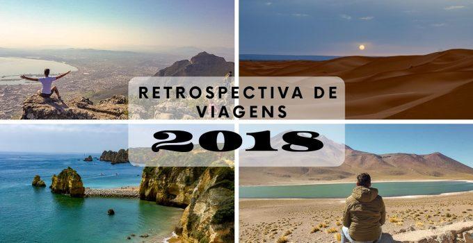 Retrospectiva de viagens em 2018