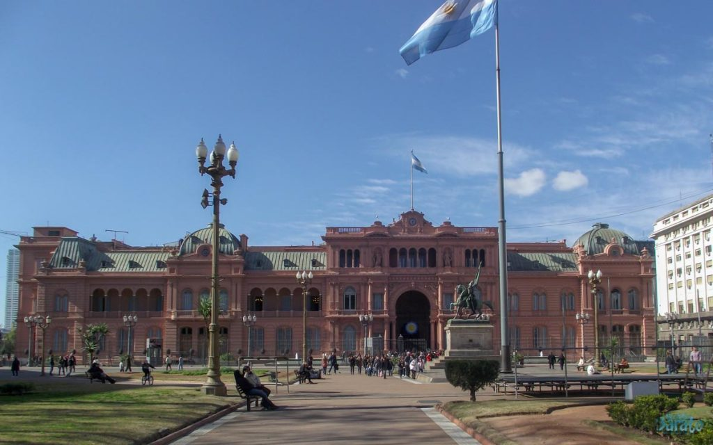 Plaza de Maio em Buenos Aires. Feriados prolongados 2020.
