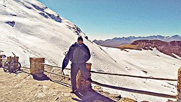 Monte Chacaltaya na Bolívia