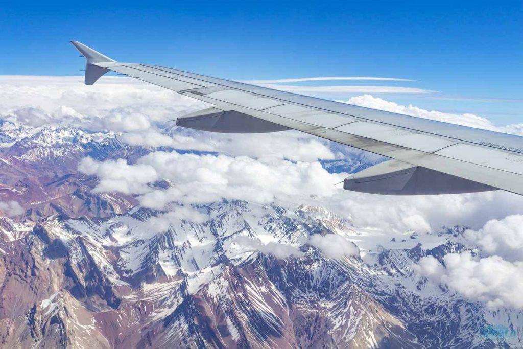 Avião chegando em Santiago