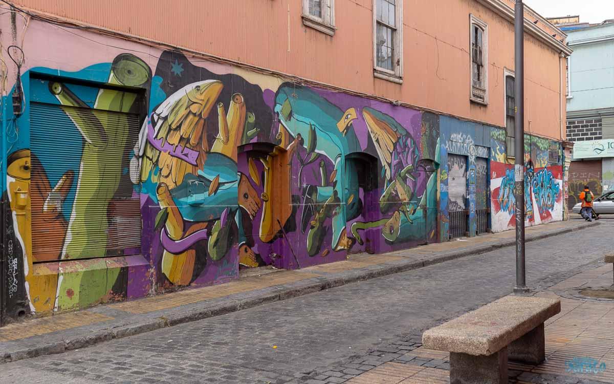 Arte de rua em Valparaíso