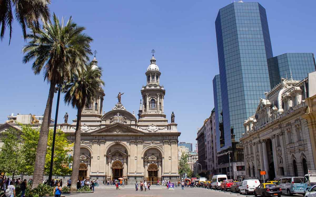Plaza de Armas em Santiago