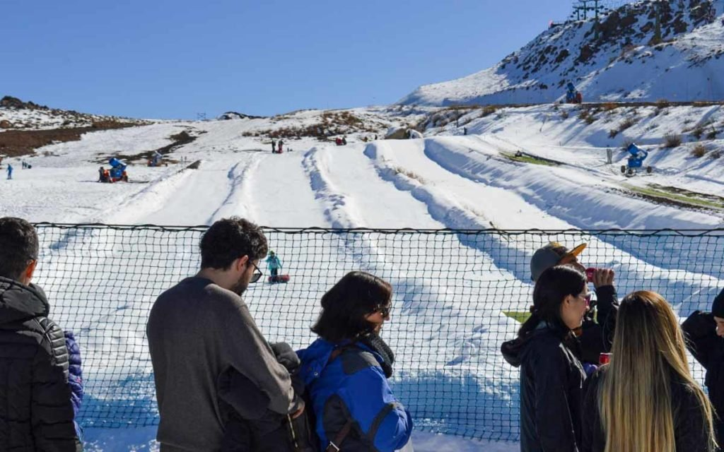 Tubing no Parque Farellones no Chiles