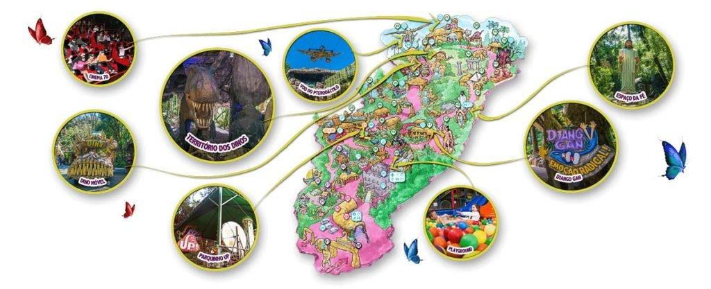 Mapa Parque Terra Mágica Florybal