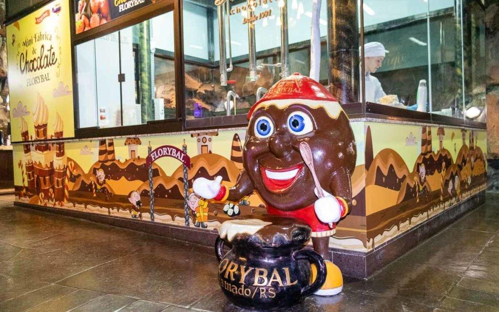 Mini fábrica de chocolates do Parque Terra Mágica de Florybal