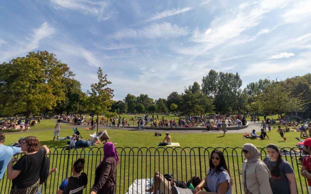 Regent's Park no verão