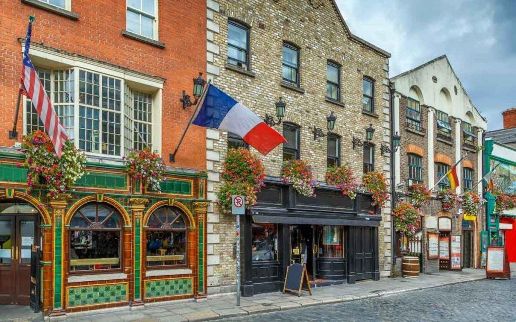 Temple Bar Street em Dublin