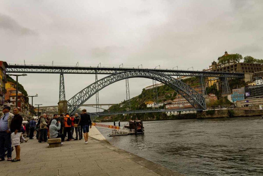 Ponte D. Luís I vista da Ribeira