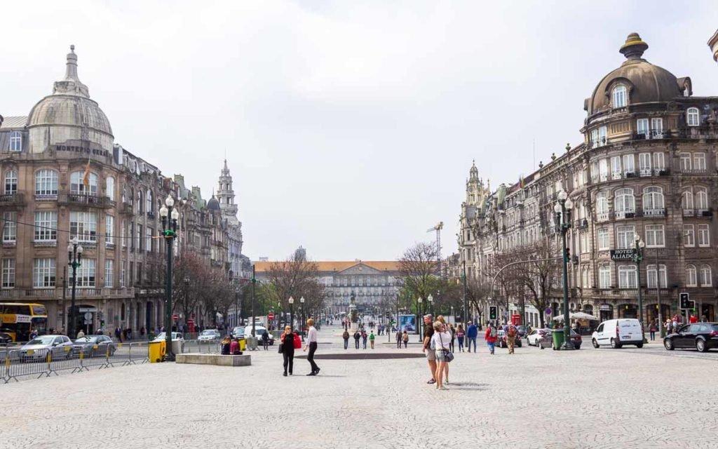 Praça da Liberdade no Porto