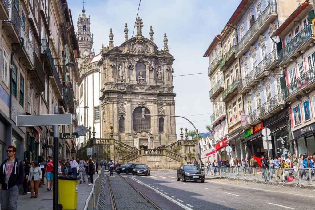 Rua dos Clérigos no Porto