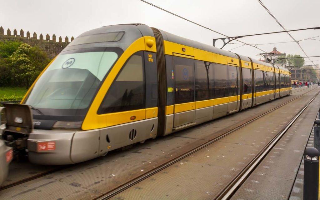Transporte público no Porto em Portugal
