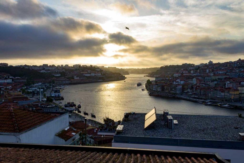 Vista da Ponte D. Luís I no Porto
