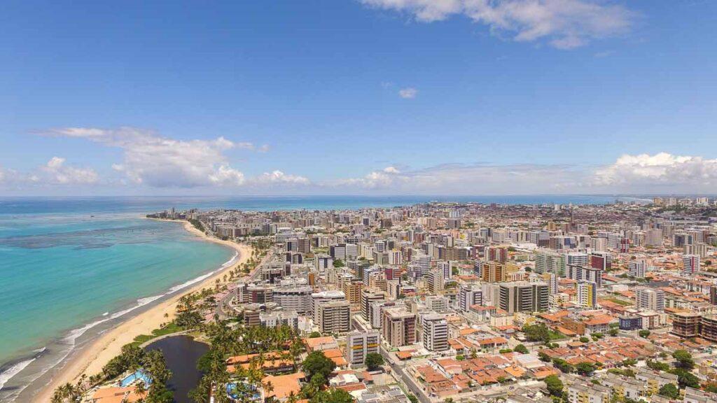 Vista aérea de Maceió