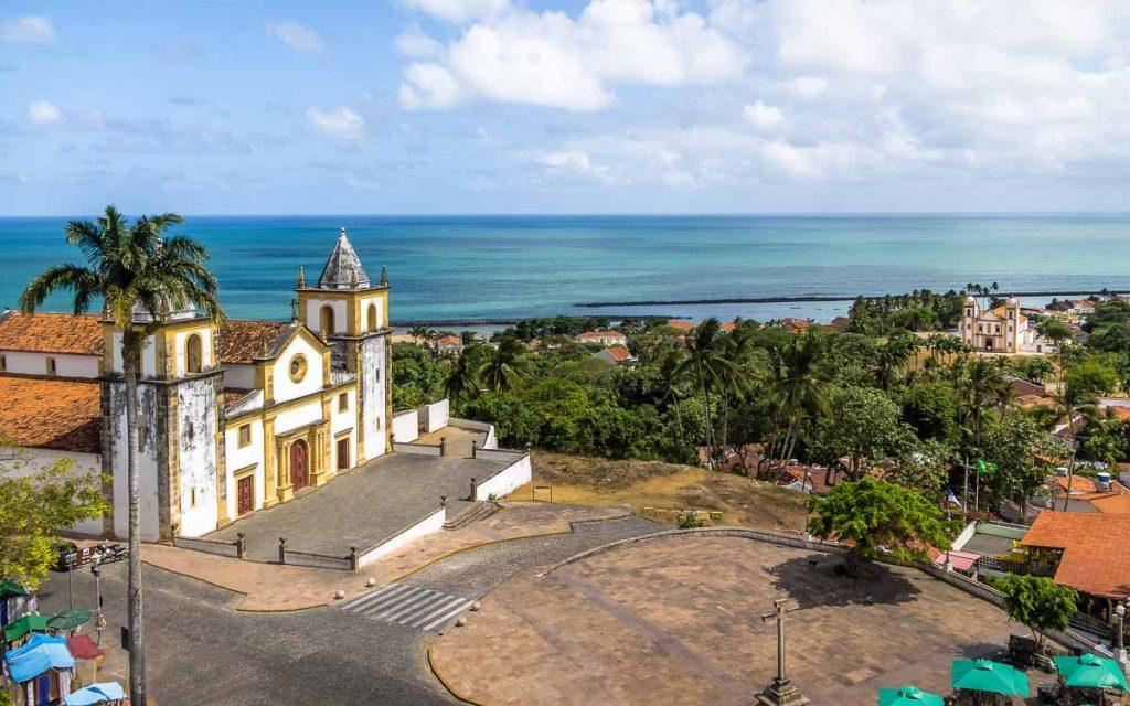 Visão aérea da Catedral de Olinda