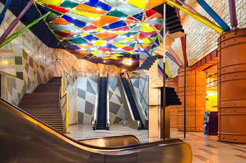 Estação Olaias do metro em Lisboa
