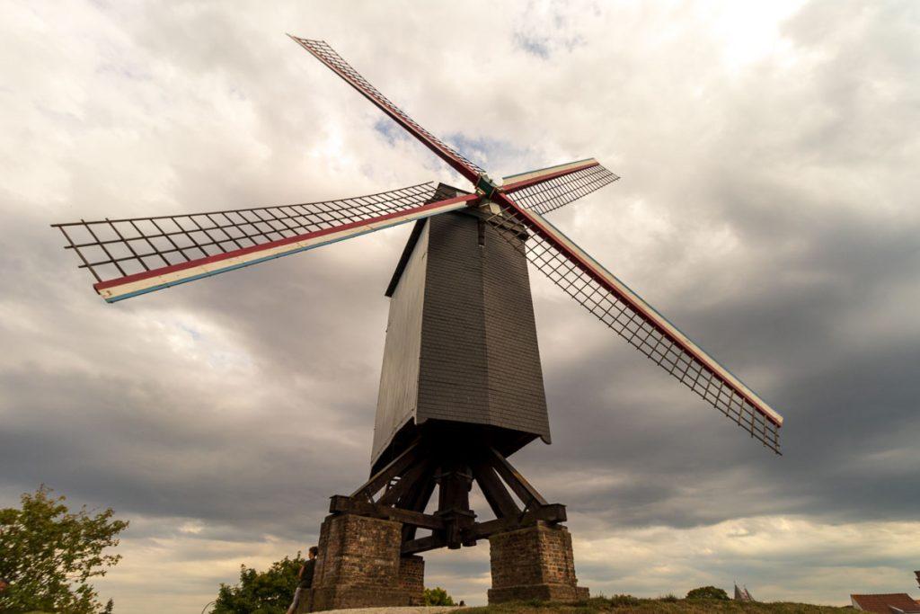 Moinho de vento em Bruges