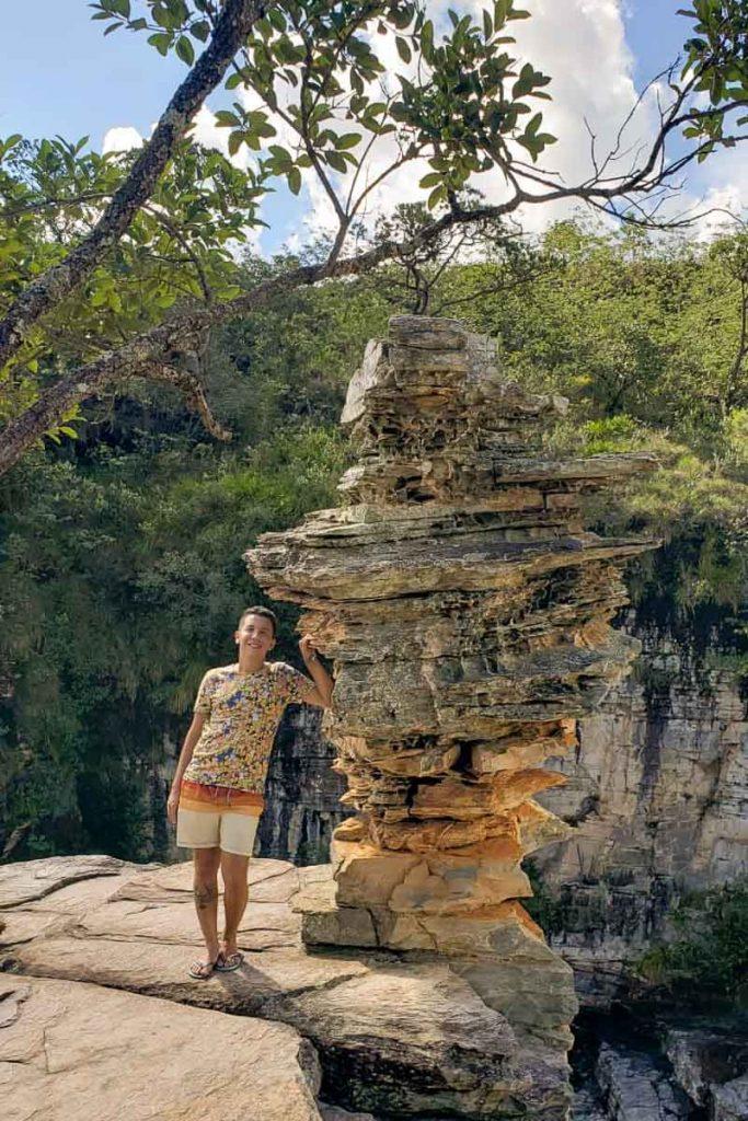 Cachoeira da Pedra Ancorada em Capitólio