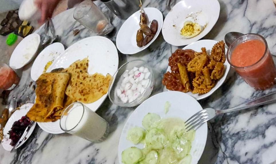 Refeição Iftar do Ramadan