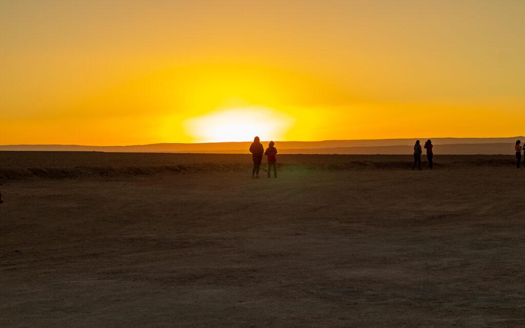 Pôr do sol visto da Laguna Tebinquiche