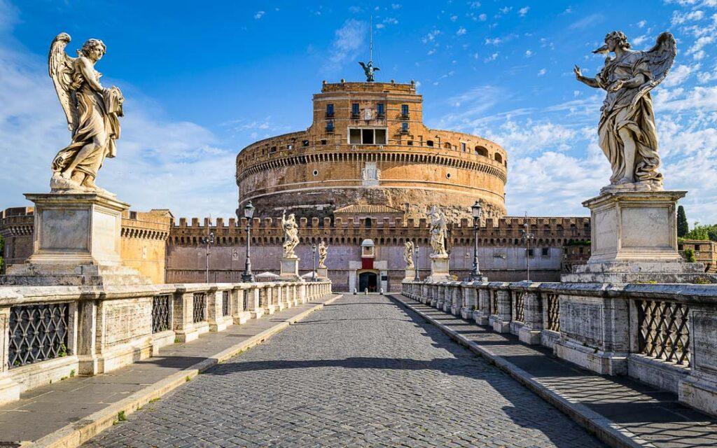 Castelo de Saint Angel em Roma