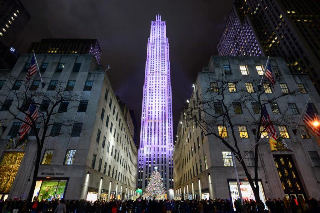 Decoração de natal no Rockefeller Center