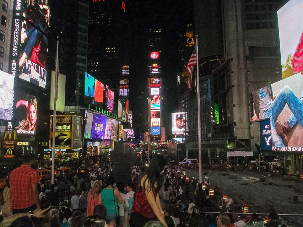 Noite de verão na Times Square