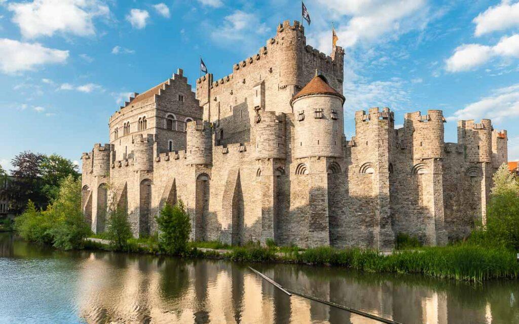 Castelo de Gante na Bélgica