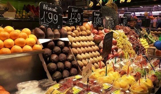 La Boquería em Barcelona