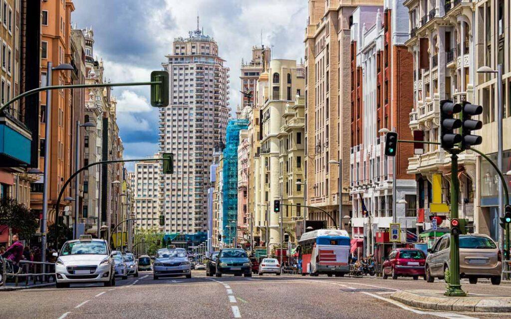 Gran vía em Madri