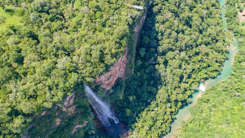 Vista área Cânion do rio Salobra
