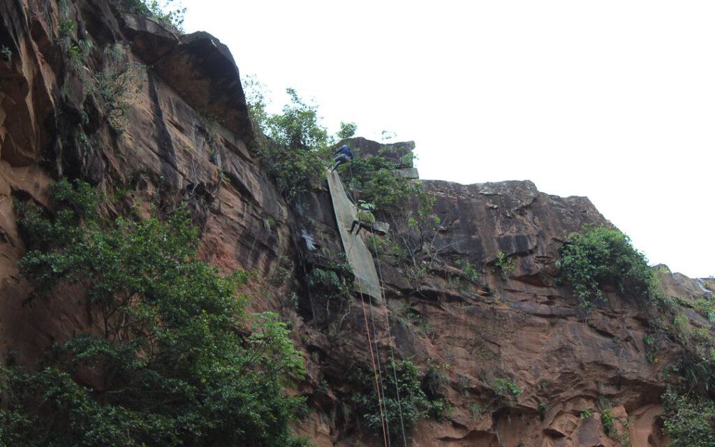 Rapel na Cachoeira do Rio do Peixe