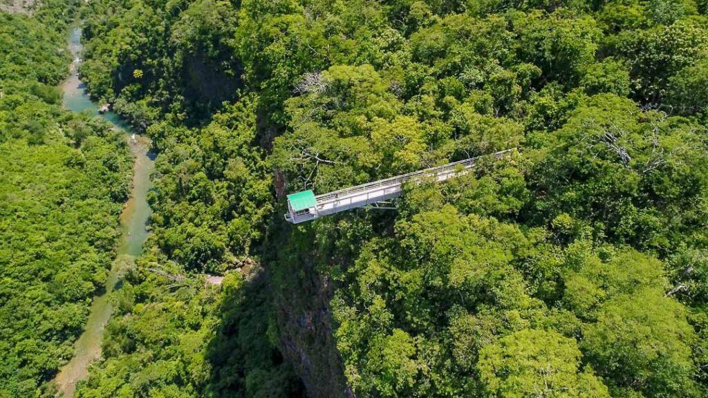 Vista aérea Cachoeira Boca da Onça