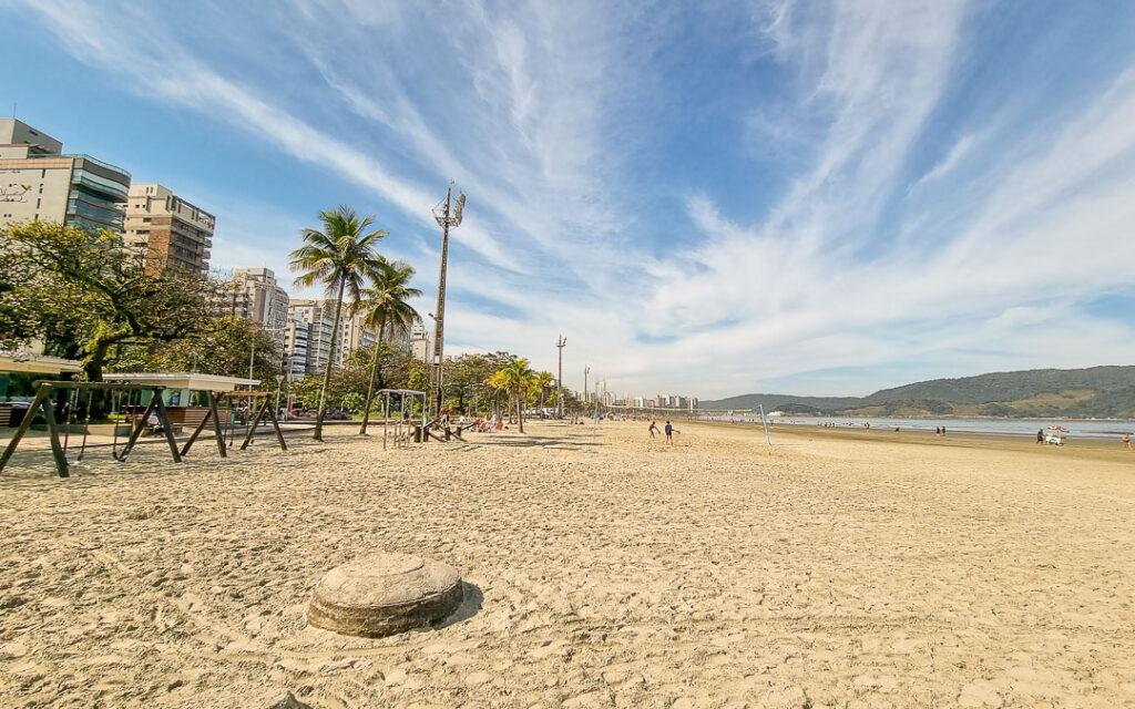 Praia Aparecida em Santos